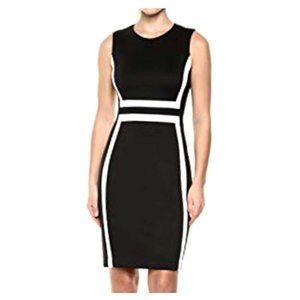 Calvin Klein Color Block Scuba Knit Sheath Dress